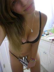 Ordinary girl on nude beach